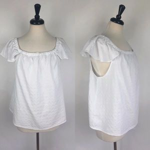 J Crew Factory | White Off-the-Shoulder Top